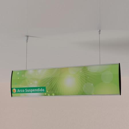 ARCO SUSPENDIDOS-directorio curvado estandar colgado del techo con cable 01